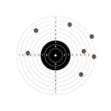 Target missed. Sport and business concept royalty free stock images