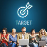 Target Mission vision Business Goal Aim Concept Stock Photos