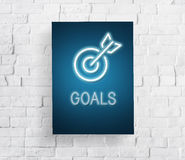 Target Mission vision Business Goal Aim Concept Stock Photo
