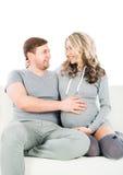target233_0_ narodziny dziecka pary potomstwa Zdjęcie Stock