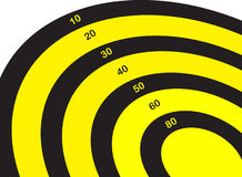 Target with numbers Royalty Free Stock Images