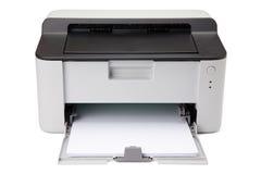 target1240_1_ odosobniony laserowy ścieżki drukarki biel Obrazy Royalty Free