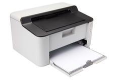 target1240_1_ odosobniony laserowy ścieżki drukarki biel Zdjęcia Stock