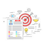 Target oriented successful CV writing concept. Illustration design Stock Image