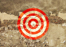 Target painted on the wall Royalty Free Stock Photos