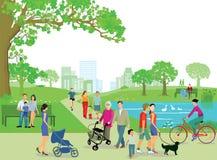 target1218_0_ parkowi ludzie royalty ilustracja