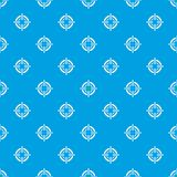 Target pattern seamless blue. Target pattern repeat seamless in blue color for any design. Vector geometric illustration Stock Image