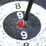 Pencil Target for meeting concept. The Pencil Arrow to a red target on the Dart royalty free stock photography