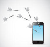Target phone illustration design Stock Image