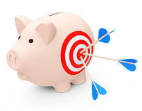 The target piggy bank Royalty Free Stock Photo
