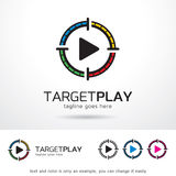 Target Play Logo Template Design Vector Stock Images