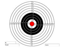 Target for pneumatic shooting. Classic target for pneumatic shooting Stock Image