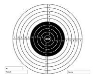 Target for pneumatic shooting. Vector Stock Photography