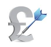 Target podium currency illustration design Royalty Free Stock Photo