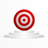 Target on a podium Stock Photos