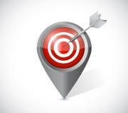 Target pointer illustration design Stock Photo