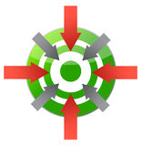 Target pointing to center illustration design Royalty Free Stock Image