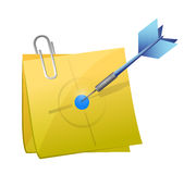 Target post and dart illustration Royalty Free Stock Photo