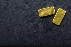 target2073_1_ prętowy złocisty złoty ingot Obraz Royalty Free