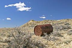 Target practice in desert background Stock Photography