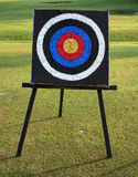 Target practice. Target board at an archery range Royalty Free Stock Photos