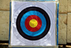 Target practice board Stock Image