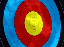Target practice board side view Stock Photography