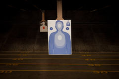 Target Practice at the Gun Range. With paper targets to improve your aim Stock Image