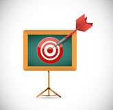 Target and presentation board illustration design Stock Photography