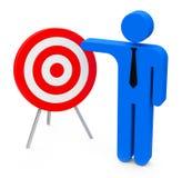 Target presentation Stock Images