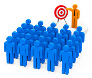 Target presentation Stock Image