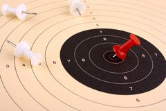 Target prevail and win against competitors Royalty Free Stock Photos