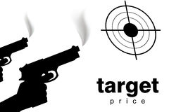 Target price metaphor Royalty Free Stock Photos
