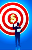 Target profits background with business executive Royalty Free Stock Photo