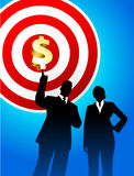 Target profits background with business executives Royalty Free Stock Image