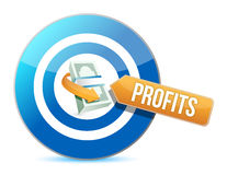 Target profits. concept illustration Stock Images