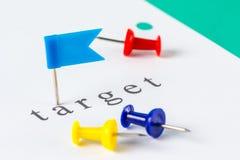 Target push pin Royalty Free Stock Image