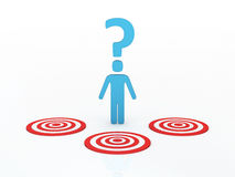 Target Question concept Stock Image