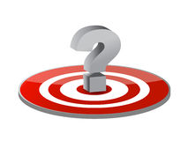 Target and question mark Stock Photo