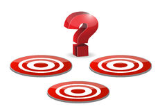 Target and question mark illustration design Stock Photo