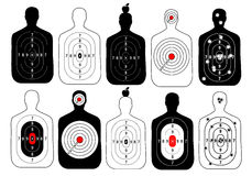 Target range shoot human vector set. Target range shoot human vector set Stock Photos