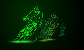 target808_1_ rasa Frontowy widok Rower rywalizacja Grupa cykliści ilustracji