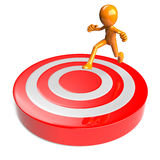Target almost reached Royalty Free Stock Photo