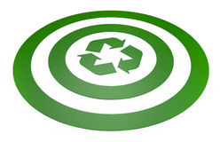 Target with recycling symbol Stock Photos