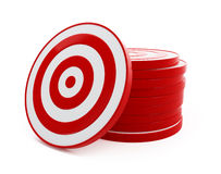 Target red. On a white background Royalty Free Stock Photo