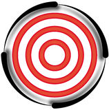 Target. Red target with black outline Stock Photography
