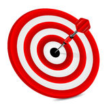 Target of red color and dart Stock Images