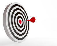 The target with red dart Stock Photo
