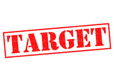 TARGET. Red Rubber Stamp over a white background Stock Photos