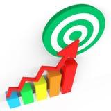 Target Report Indicates Grow Forecast And Profit Royalty Free Stock Photos
